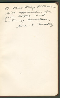 GENERAL OMAR N. BRADLEY - INSCRIBED SPEECH SIGNED CIRCA 1948