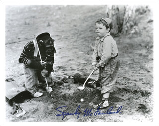 SPANKY McFARLAND - AUTOGRAPHED SIGNED PHOTOGRAPH