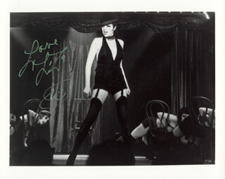 LIZA MINNELLI - AUTOGRAPHED SIGNED PHOTOGRAPH