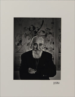AL HIRSCHFELD - PHOTOGRAPH MOUNT SIGNED
