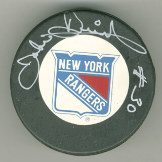 JOHN DAVIDSON - HOCKEY PUCK SIGNED