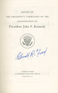 PRESIDENT GERALD R. FORD - BOOK SIGNED