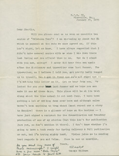 GEORGE MILBURN - TYPED LETTER SIGNED 01/24/1935