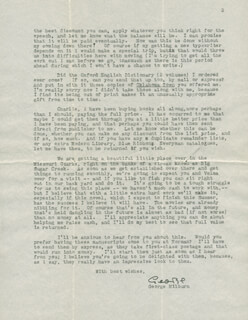 GEORGE MILBURN - TYPED LETTER SIGNED 05/16/1935