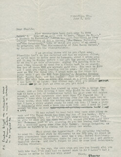 GEORGE MILBURN - TYPED LETTER SIGNED 06/08/1935