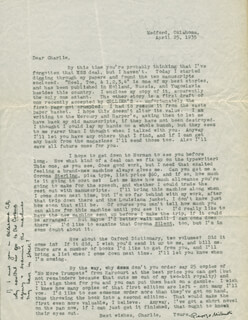 GEORGE MILBURN - TYPED LETTER SIGNED 04/25/1935