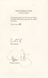 PETER STRAUB - BOOK SIGNED CO-SIGNED BY: THOMAS CANTY
