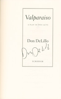 DON DeLILLO - BOOK SIGNED