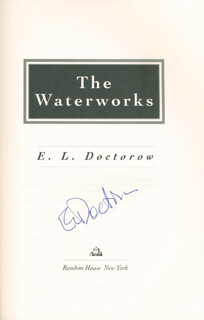 E. L. (EDGAR LAWRENCE) DOCTOROW - BOOK SIGNED