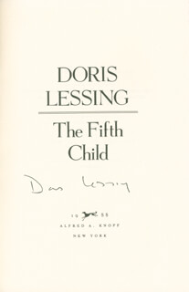 Autographs: DORIS LESSING - BOOK SIGNED