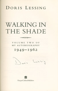 DORIS LESSING - BOOK SIGNED