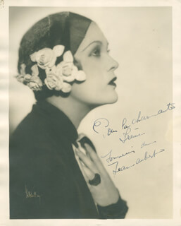Autographs: JEANNE AUBERT - INSCRIBED PHOTOGRAPH SIGNED