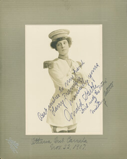 MABEL KEITH LEICK - AUTOGRAPHED INSCRIBED PHOTOGRAPH 11/22/1907