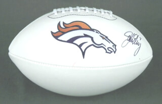 JOHN ELWAY - FOOTBALL SIGNED