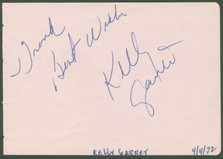 KELLY GARRETT - AUTOGRAPH NOTE SIGNED