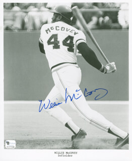 WILLIE STRETCH McCOVEY - AUTOGRAPHED SIGNED PHOTOGRAPH