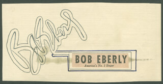 BOB (ROBERT) EBERLY - AUTOGRAPH