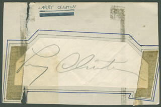 Autographs: LARRY CLINTON - SIGNATURE(S)
