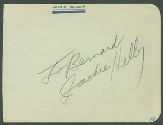 JACKIE LITTLE JACKIE HELLER - INSCRIBED SIGNATURE