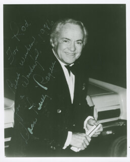 CHARLES BUDDY ROGERS - AUTOGRAPHED INSCRIBED PHOTOGRAPH 1986