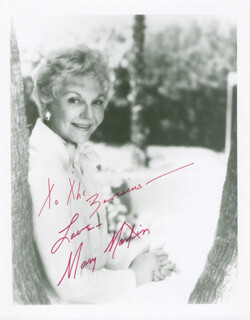 MARY MARTIN - AUTOGRAPHED INSCRIBED PHOTOGRAPH