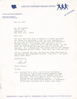 CHUCK CONNORS - TYPED LETTER SIGNED 05/24/1990