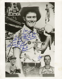 CHUCK CONNORS - AUTOGRAPHED INSCRIBED PHOTOGRAPH 5/1990