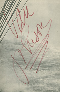 VAN JOHNSON - BOOK SIGNED