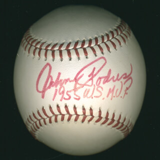 JOHNNY PODRES - AUTOGRAPHED SIGNED BASEBALL CIRCA 1996