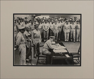 ADMIRAL CHESTER W. NIMITZ - INSCRIBED PHOTOGRAPH SIGNED TWICE
