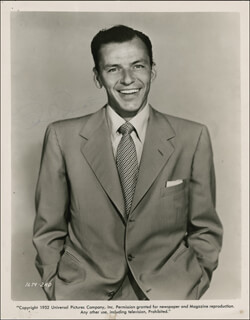 FRANK SINATRA - AUTOGRAPHED SIGNED PHOTOGRAPH