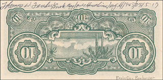 Autographs: ENOLA GAY CREW (COLONEL THOMAS W. FEREBEE) - CURRENCY SIGNED 08/06/1945