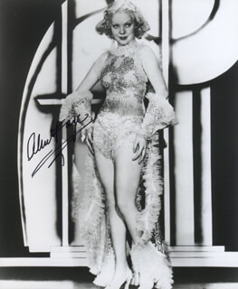 ALICE FAYE - AUTOGRAPHED SIGNED PHOTOGRAPH