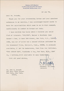 GENERAL MATTHEW B. RIDGWAY - TYPED LETTER SIGNED 01/12/1979