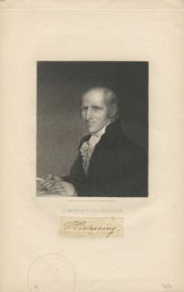 GENERAL TIMOTHY PICKERING - AUTOGRAPH