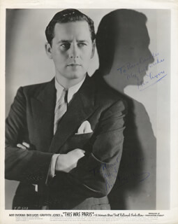 BEN LYON - INSCRIBED PHOTOGRAPH SIGNED TWICE