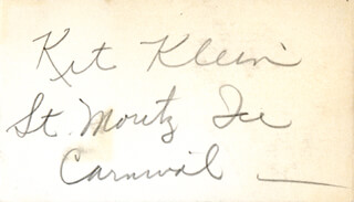 CATHERINE KIT KLEIN - AUTOGRAPH NOTE SIGNED