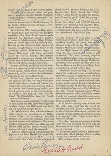ERNIE NEVERS - BOOK PAGE SIGNED CO-SIGNED BY: ELIZABETH WARD, WILLIAM GOLDSTEIN, JOHN BARNUM, BILL HOELLE, RUDDELL RUDD WEATHERWAX