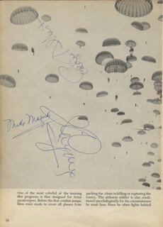 JAMES CAGNEY - BOOK PAGE SIGNED CO-SIGNED BY: MIKE MAZURKI, EDDIE ALBERT