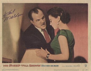 KARL MALDEN - LOBBY CARD SIGNED