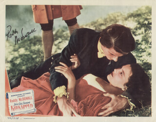 RODDY McDOWALL - LOBBY CARD SIGNED