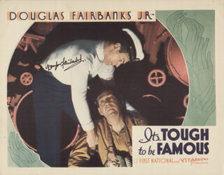 Autographs: DOUGLAS FAIRBANKS JR. - LOBBY CARD SIGNED