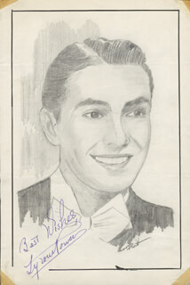 JOHN RAITT - ORIGINAL ART SIGNED CO-SIGNED BY: TYRONE POWER