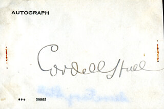Autographs: CORDELL HULL - SIGNATURE(S)