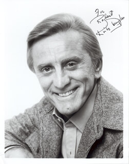 KIRK DOUGLAS - AUTOGRAPHED INSCRIBED PHOTOGRAPH