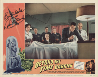ROBERT CLARKE - LOBBY CARD SIGNED