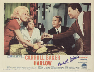 CARROLL BAKER - LOBBY CARD SIGNED