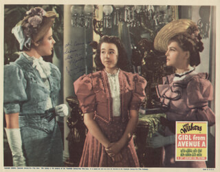 JANE WITHERS - LOBBY CARD SIGNED