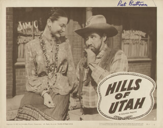 PAT BUTTRAM - LOBBY CARD SIGNED