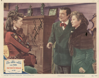JANET LEIGH - LOBBY CARD SIGNED